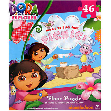 Dora the Explorer Floor Puzzle [Here's to a Perfect Picnic!]