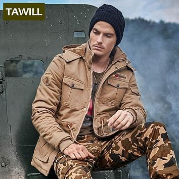 TAWILL 2016 new military winter jacket men army soldier Air force one parka coat Casual men jacket Brand clothing 9935