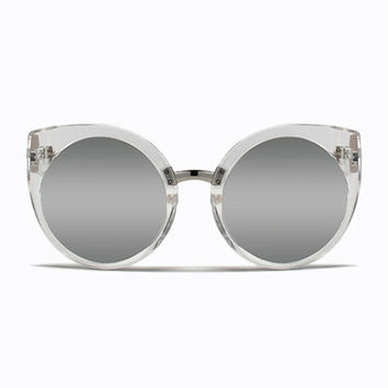 QUAY CHINA DOLL SUNGLASSES IN CLEAR