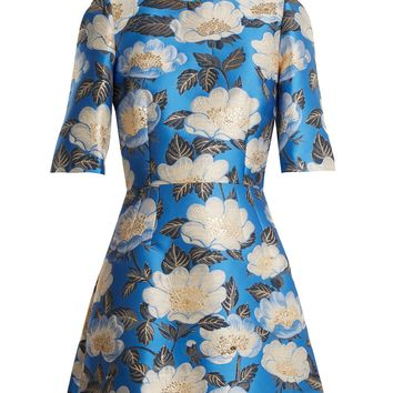 Floral-jacquard silk-blend dress | Dolce & Gabbana | MATCHESFASHION.COM US