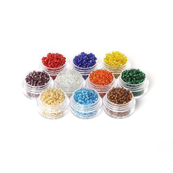Pack of 1500 Czech Seed Beads. 3mm x 2mm. Different Colours Available. Glass Spacers. Perfect for Creating Handmade Jewellery and Art Craft