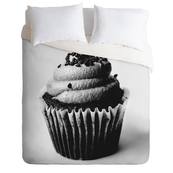 Allyson Johnson Black And White Cupcake Photograph Duvet Cover