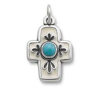 Enamel Floral Mission Cross with Turquoise | James Avery