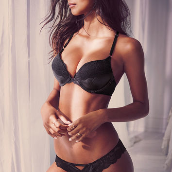Faux Leather & Lace Add-2-Cups Push-Up Bra - Bombshell - Victoria's Secret