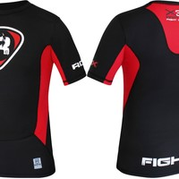 RDX Fight Rash Guard T Shirt Red