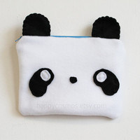 Panda Pouch - Animal Make Up Bag, Kawaii Pencil Case, 3DS Case
