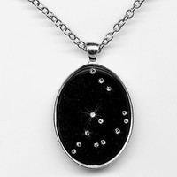 $35.00 Capricorn Constellation Pendant Zodiac Jewelry by FeatherMagic