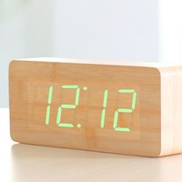 INFMETRY:: Wood LED Clock - Gifts For Christmas
