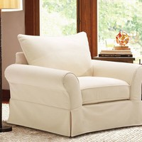PB Comfort Grand Slipcovered Armchair