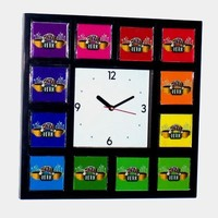 Central Perk FRIENDS TV show color wheel square desk or wall clock prop