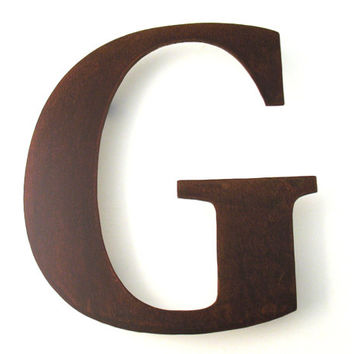 Metal G Sign Letter - Rusty Rustic Wall Art Sculpture Decor