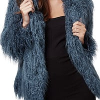 KENDALL + KYLIE at Topshop Faux Fur Coat