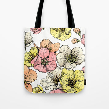 Colorful Poppies Tote Bag by MIKART