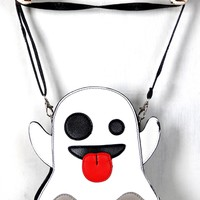 Ghost Emoji Novelty Crossbody Bag