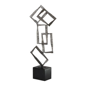 Talal Contemporary Brushed Nickel Tabletop Sculpture by Uttermost