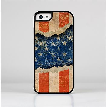 The Scratched Surface Peeled American Flag Skin-Sert for the Apple iPhone 5c Skin-Sert Case