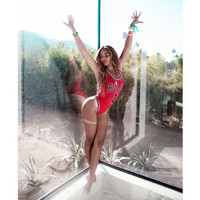 2015 New Arrive Beyonce's Bulls Bodysuit Sexy One Pieces swim suits Women Swimwear Bathing Suit Female Swimsuit Summer beachwear