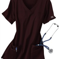 Cherokee Workwear Core Stretch shaped v-neck scrub top. - Scrubs and Beyond