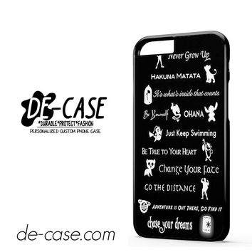 All Disney Quotes For Iphone 6 Iphone 6S Iphone 6 Plus Iphone 6S Plus Case Phone Case Gift Present YO