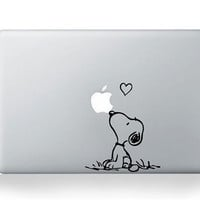 Snoopy  Mac Decal Macbook Decals apple decals mac by ellaseeing