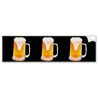 Beer Mug Car Bumper Sticker