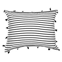 Signature Stripe Reversible Standard Sham with Tassels