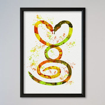 Valentine's Day Gift Snakes Love Poster Watercolor Print Heart Poster Gift Illustration Art Snakes In Love Black Humor Dark Comedy