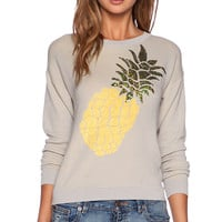 Wilde Heart Pineapple Crush Jumper in Light Gray