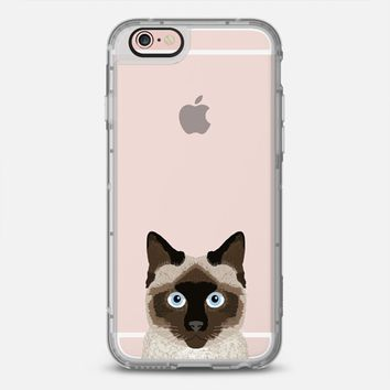 iPhone Case With Interchangeable Back Plates by Casetify | Siamese Cat Design by Pet Friendly (iPhone 6, 6s, 6 Plus, 6s Plus, 7)