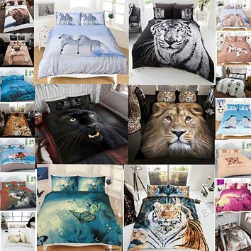 3D Animal Print Bedding🐴🦋🐅🐈🐕🐾💤