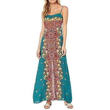 Free People - Morning Song Maxi Dress - Jade Combo