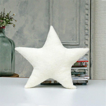 Soft pillow,Star,Cream pillow,decorative pillows,kids gift,cozy,kids pillows,pillows for kids,kids room decor,gift for kids,Nursery decor