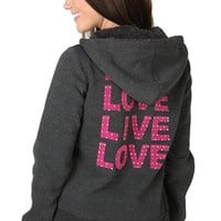 Live Love Hoodie with Fur Lined Hood