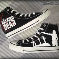 The Walking Dead Custom Converse / Painted Shoes