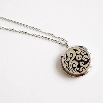 NEW 316L Stainless Steel Essential oil diffuser pendant necklace for Doterra young living oils