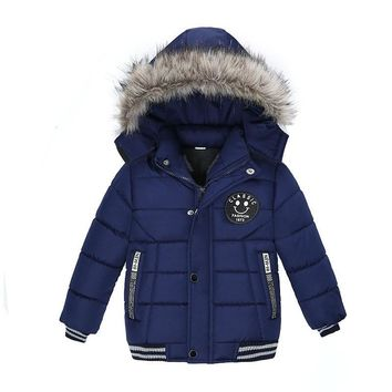 Trendy Baby Boys Coat 2018 Winter Jacket For Boys Fashion Hoodies Children Coat Boys clothes Jackets Warm Outerwear for kids clothes AT_94_13