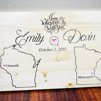 Personalized Wedding Gift Ideas, Last name Established Sign, Gift for Couples, christmas gifts, Housewarming Gift, Thanksgiving decor gift