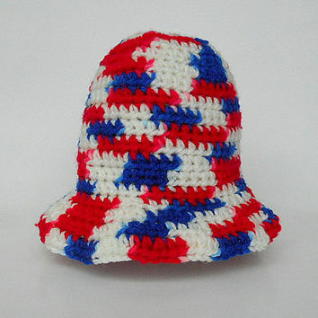 Red White Blue July 4  Baby Boy  Hat Infant Girl Patriotic Cap 6 To 12 Month   Summer Accessory