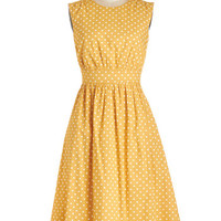 Emily and Fin Long Sleeveless A-line Too Much Fun Dress in Honey Creme - Long
