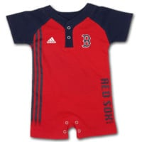 Red Sox Infant Romper with Placket Collar