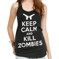 Keep Calm And Kill Zombies Girls Tank Top