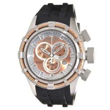 Invicta 15782 Men's Bolt Reserve Sport Rose Gold Dial Rubber Strap Chronograph Dive Watch