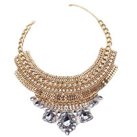 Multi Strand Pendant Hollow Out Necklace