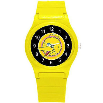 Big Bird on a Yellow Plastic Watch...New..Great for Kids