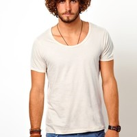 ASOS T-Shirt With Bound Scoop