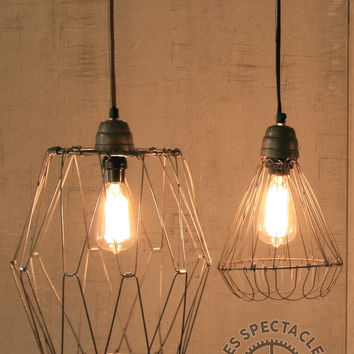 Wire Cage Pendant Lamp Large
