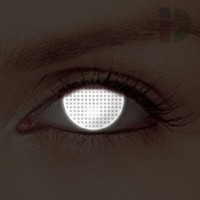 iD Lenses White Screen Glow In The Dark Contacts