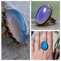 Changing Colors - Mood Ring - Hippie Retro - Adjustable Ring