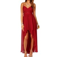 Elly-red Prom Dress