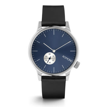 Winston Subs Blue Silver Watch